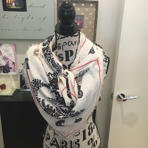 Ann Taylor Large Square Paisley Scarf